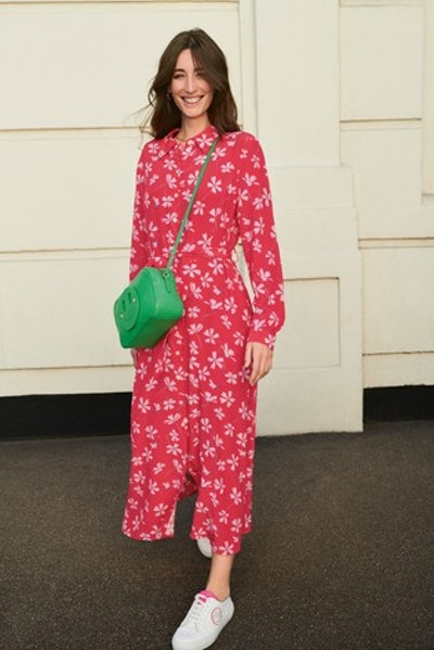 Mix/Primrose Park Floral Print Shirt Dress