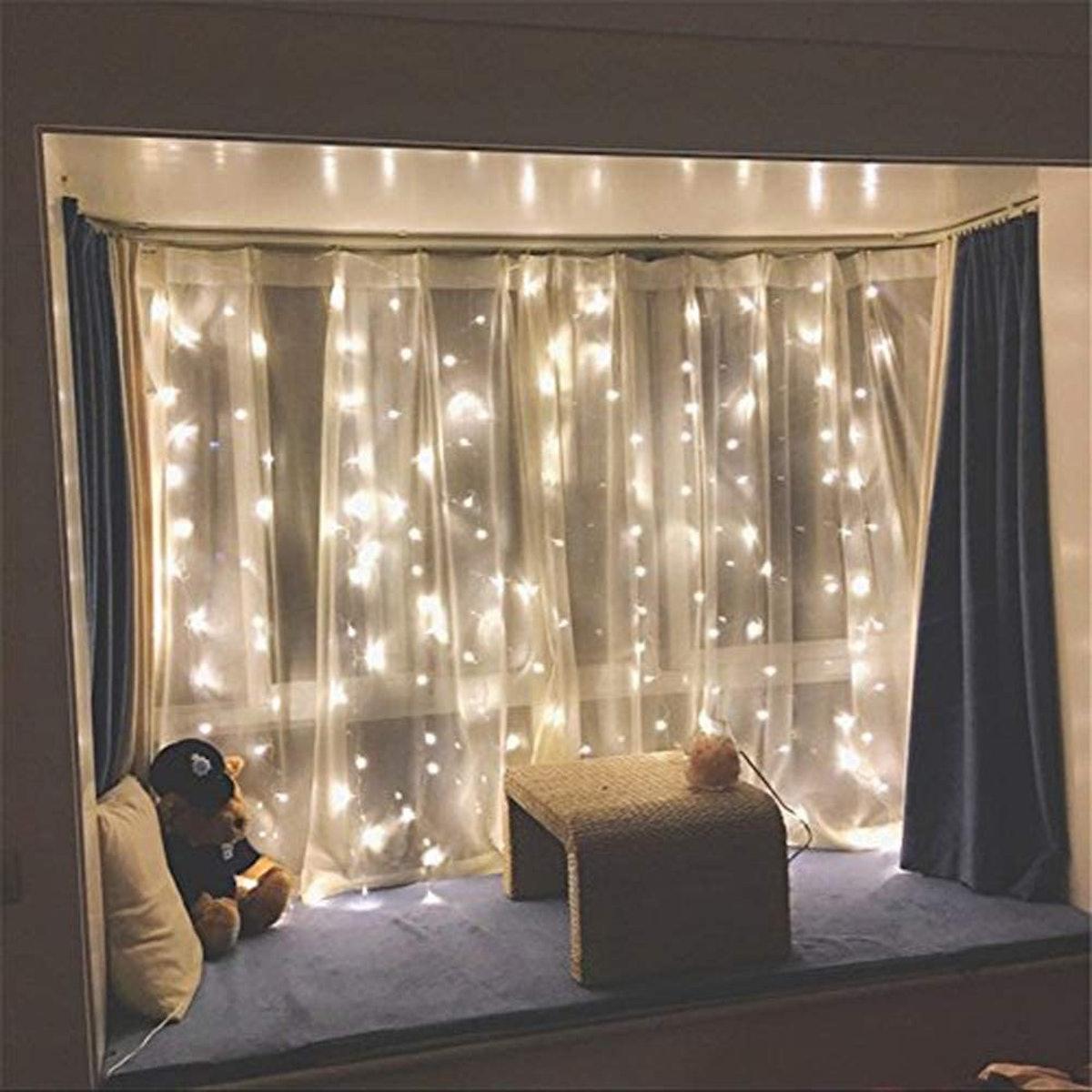 Twinkle Star LED Window Curtain String Lights