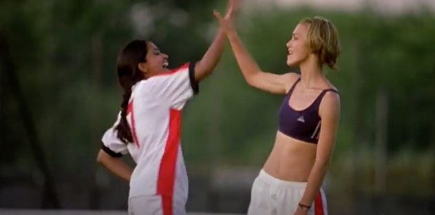 Kiera Knightley stars in the 2003 film, 'Bend It Like Beckham.'