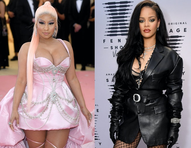 Some fans think Nicki Minaj and Rihanna are collaborating on a new song.