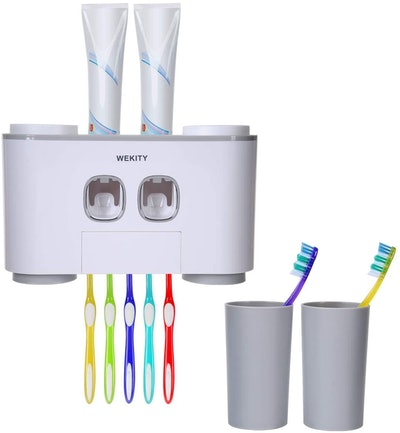 Wekity Toothbrush and Toothpaste Dispenser
