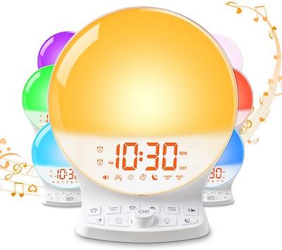 Roxicosly Sunrise Wake Up Light Alarm Clock