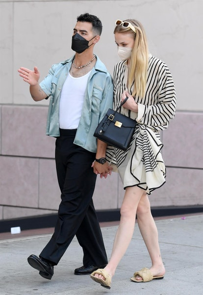 Popstar and Jonas Brother, Joe Jonas, takes his wife Sophie Turner on a shopping spree in Beverly Hills to celebrate Mother's Day.