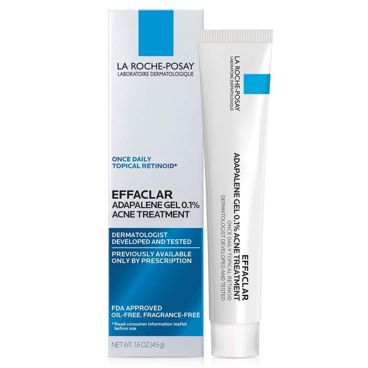 Effaclar Adapalene Gel 0.1% Topical Retinoid Acne Treatment