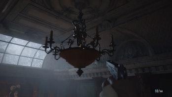 resident evil village bell puzzle on chandelier