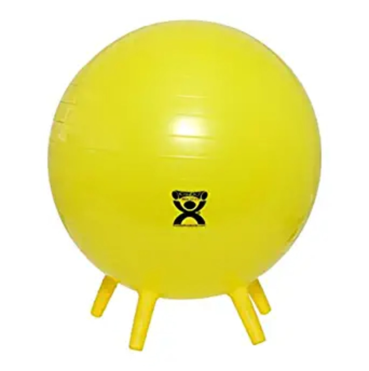 CanDo Inflatable Exercise Ball With Stability Feet