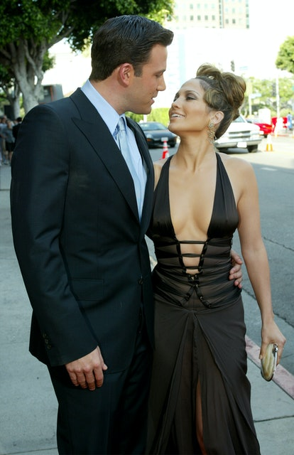Actress Jennifer Lopez and actor Ben Affleck attend the premiere of Revolution Studios' and Columbia...