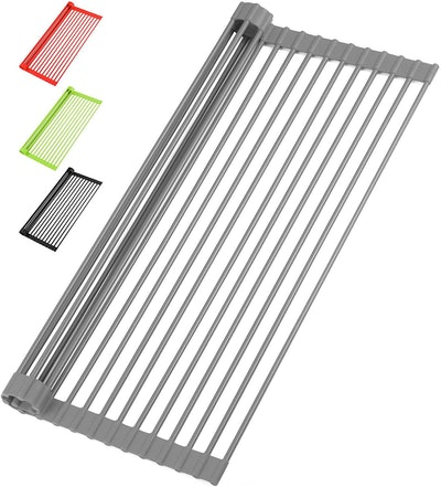 Zulay Kitchen Roll-Up Dish Drying Rack
