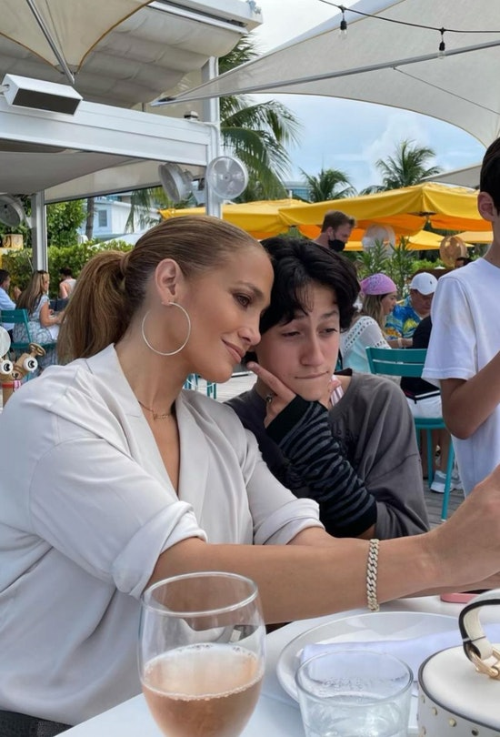 Jennifer Lopez is the mom to two kids with ex-husband, Marc Anthony.