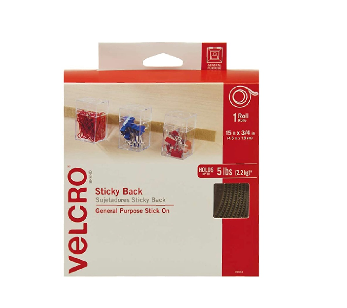 VELCRO Organizing Sticky Back Hook and Loop Fasteners