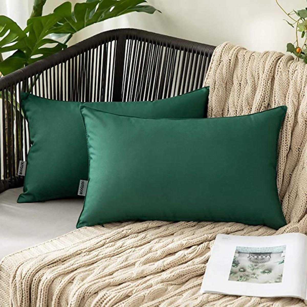 MIULEE Outdoor Waterproof Pillow Covers (2-Pack)