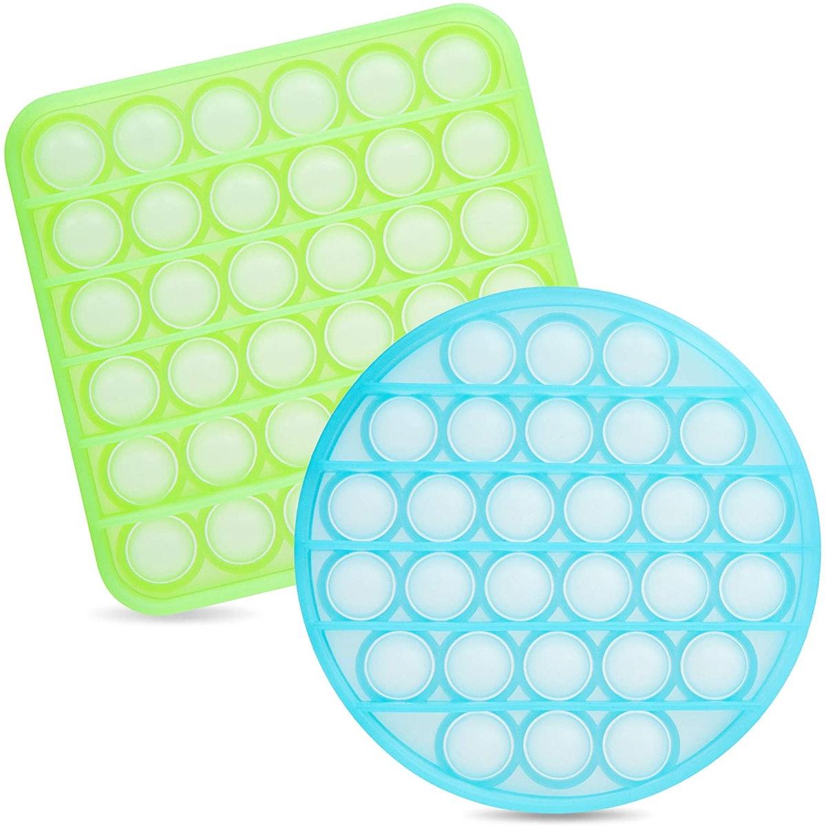 iBaste Fluorescent Push Pop Bubble Fidget Toy