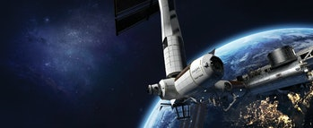 Concept art of Axiom Space's planned space station.