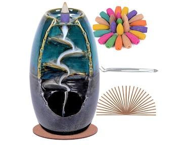 SPACEKEEPER Ceramic Backflow Incense Holder