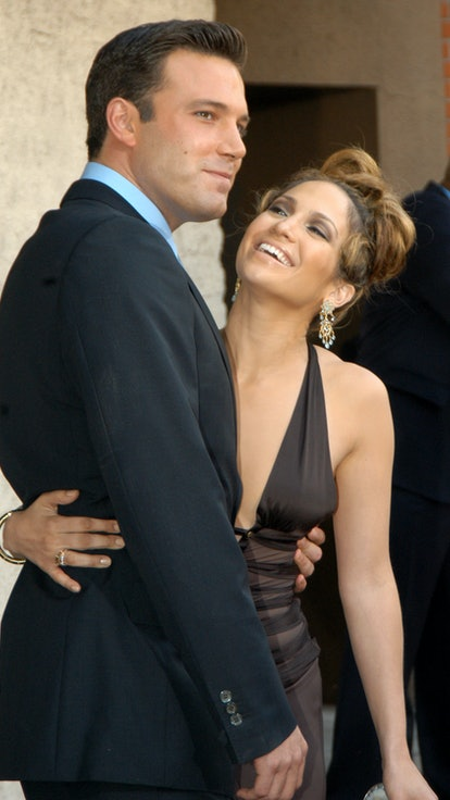 Ben Affleck and Jennifer Lopez during Gigli California Premiere at Mann National in Westwood, Califo...
