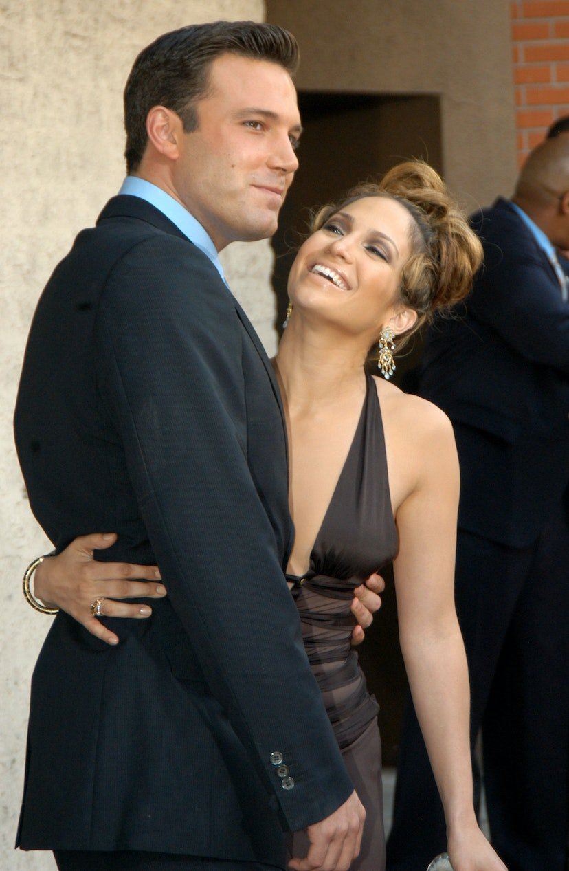 Ben Affleck and Jennifer Lopez during Gigli California Premiere at Mann National in Westwood, California, United States.