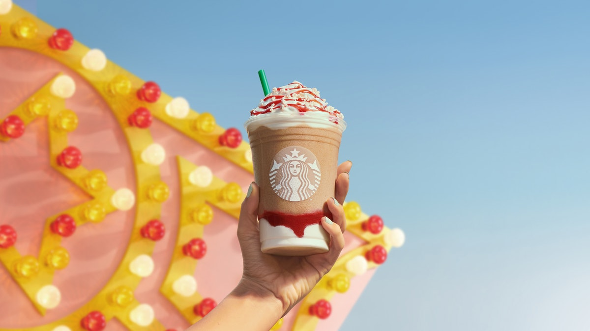 What's in Starbucks' Strawberry Funnel Cake Frappuccino? The menu item pays tribute to a classic dessert.