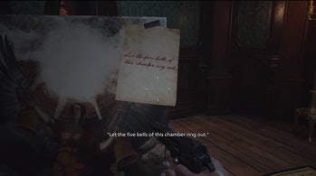 resident evil village bell puzzle hint
