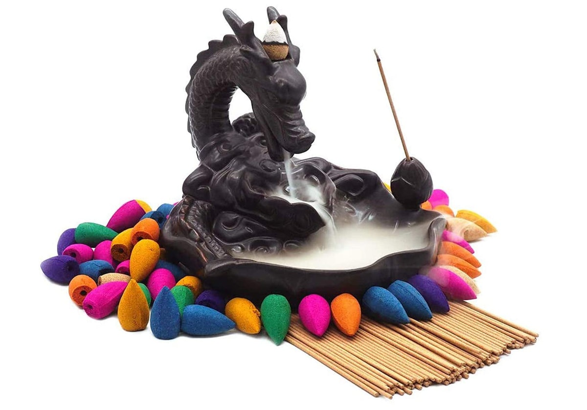 Dragon Incense Holders Ceramic