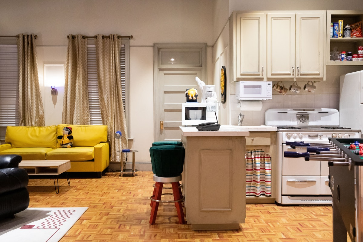 The 'Friends' Experience in NYC has a recreation of Chandler and Joey's apartment from 'Friends.'