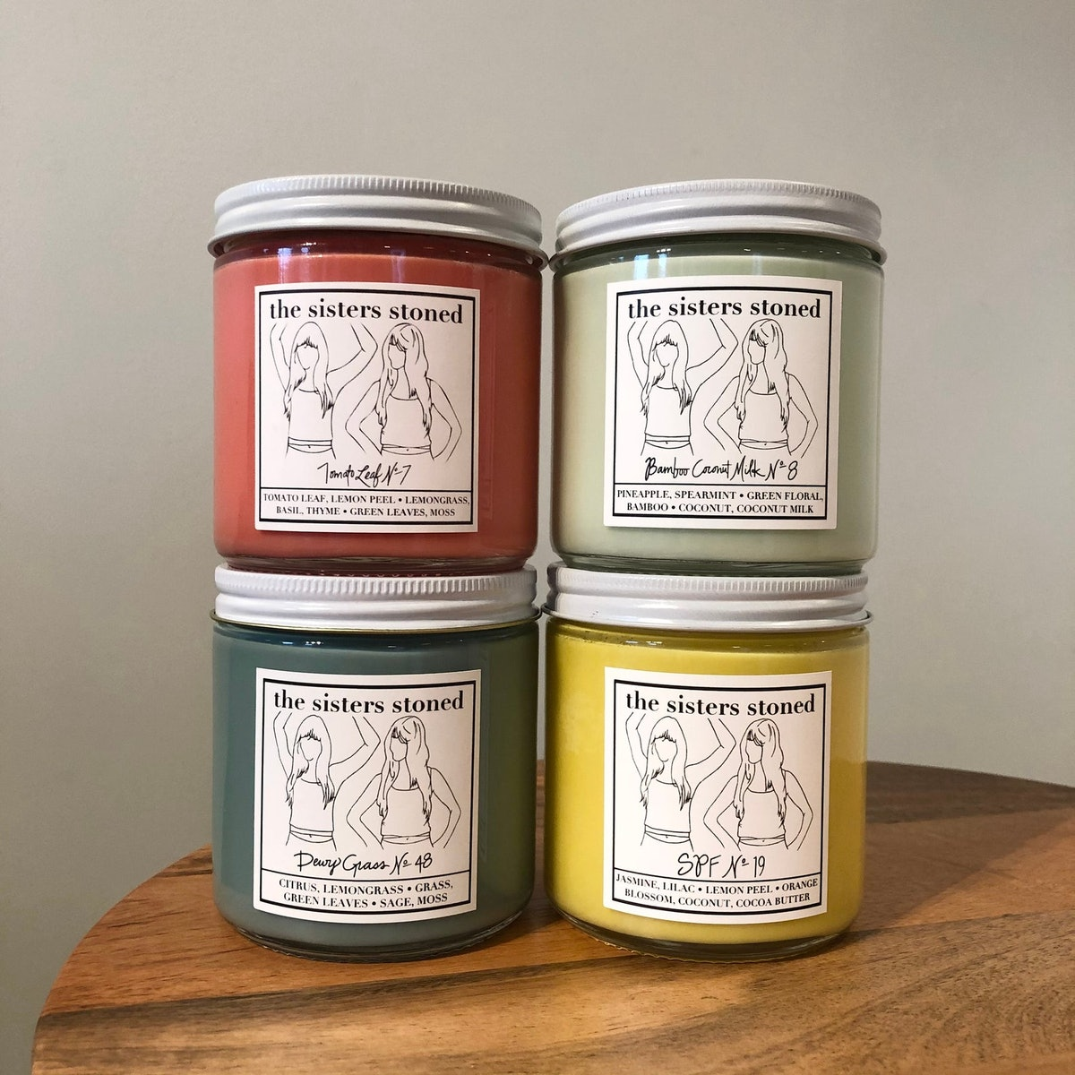 Summer Candle Set of 4 Soy Candles