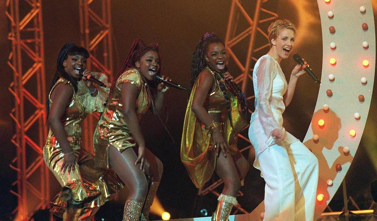 Cleopatra & Steps performing at the 1999 BRIT Awards