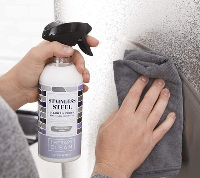 Therapy Premium Stainless Steel Cleaner/Polish & Microfiber Cloth