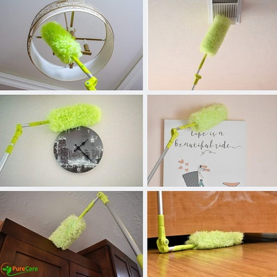 Pure Care Microfiber Feather Duster with Extension Pole