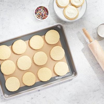 Amazon Basics Silicone, Non-Stick, Food Safe Baking Mat (2-Pack)
