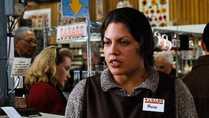 Sara Ramirez made a brief but memorable appearance in 'You've Got Mail.' Screenshot via Hulu