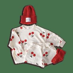 Cherry Sweatshirt and Short Set