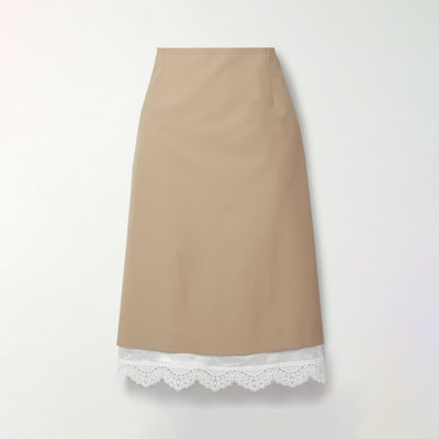 Commission Cotton twill skirt