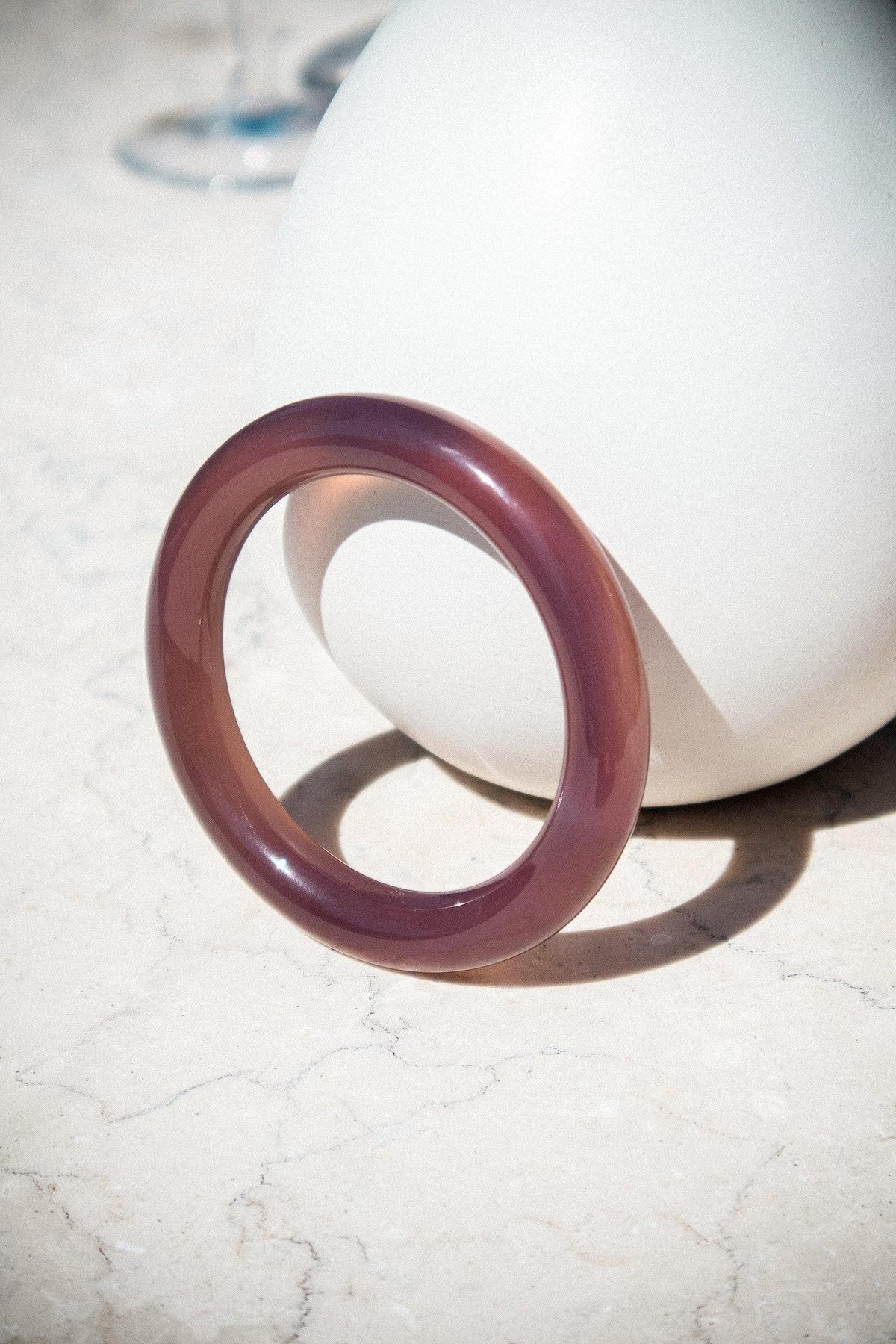 Purple Round Jade Bangle
