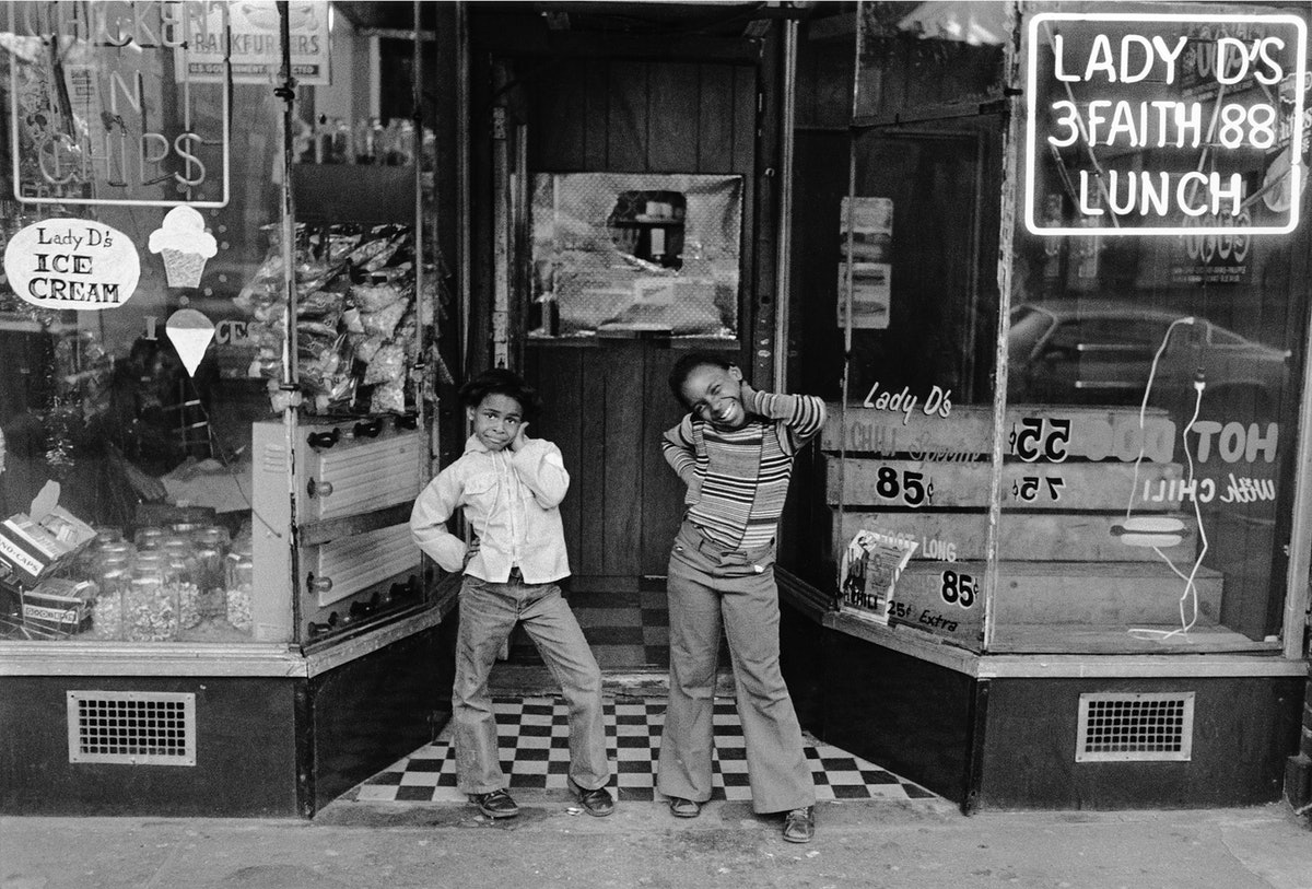 A photo of two boys by Dawoud Bey