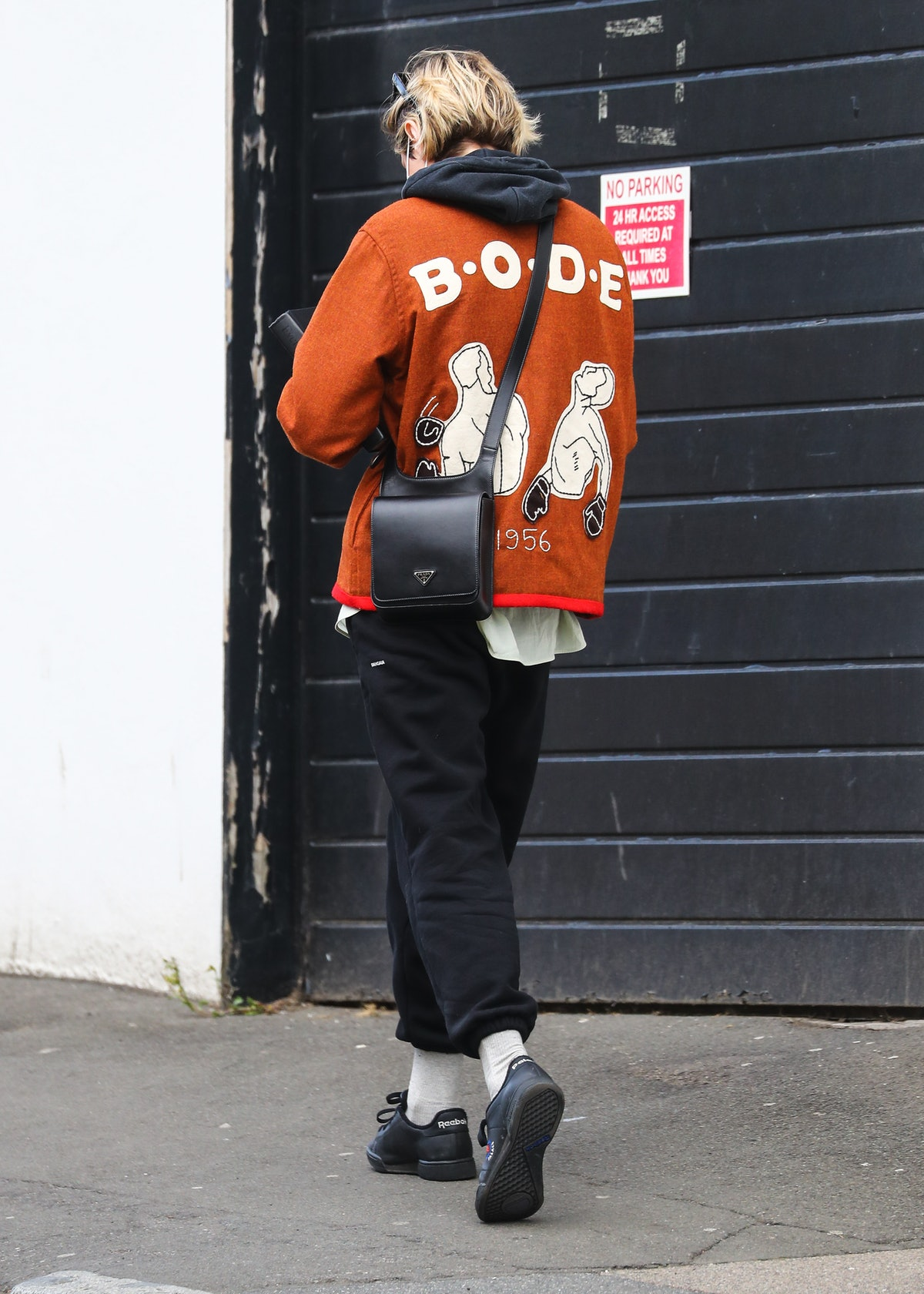 The back of Emma Corrin's Bode jacket.