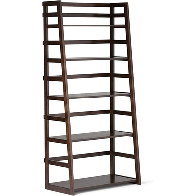 SIMPLIHOME Solid Wood Ladder Bookcase