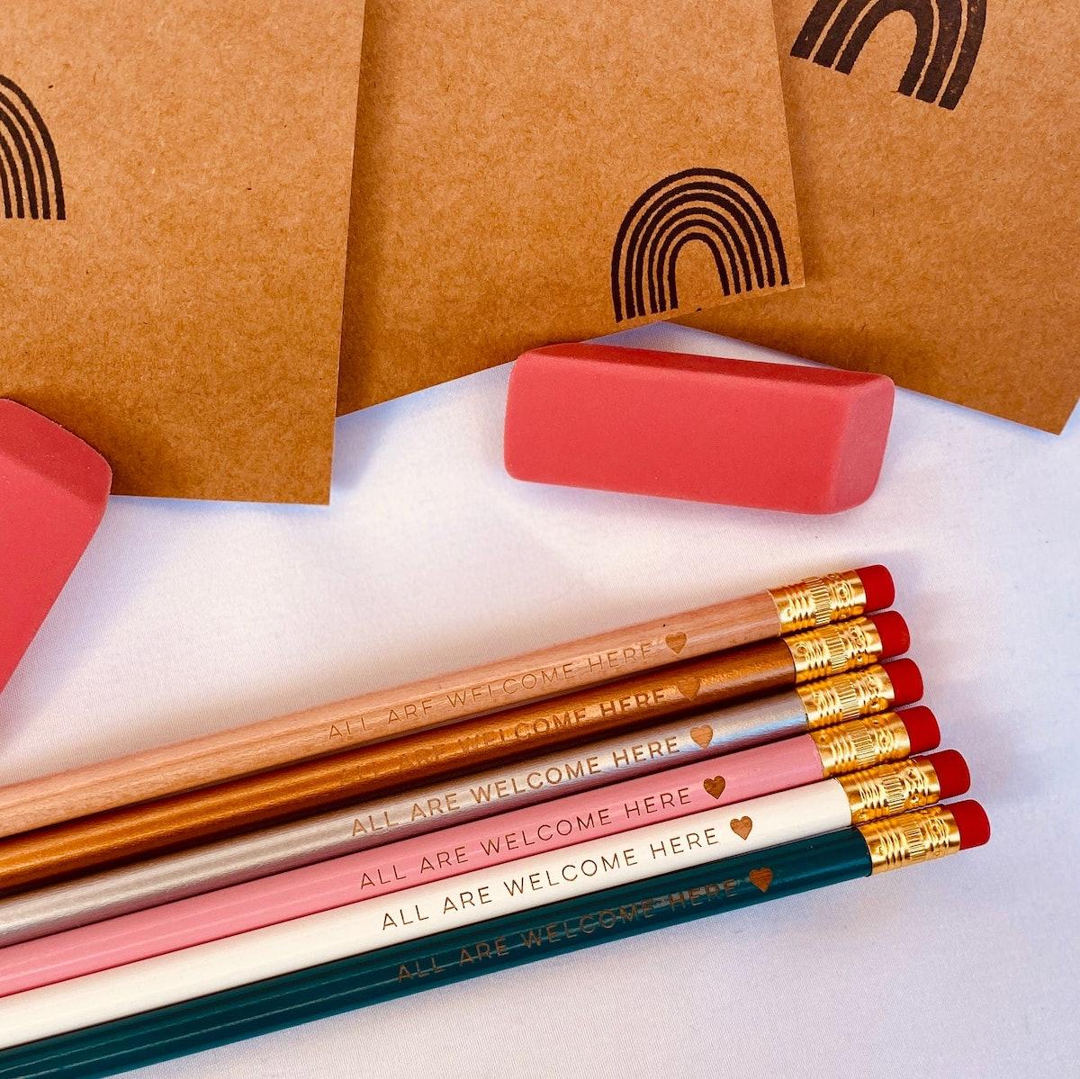 PRIDE Talking Pencils Stationary Set
