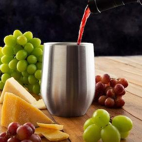 Brovino Stainless Steel Wine Glasses (Set of 4)