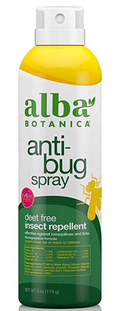 Alba Botanica Anti-Bug Spray, Deet Free Insect Repellent