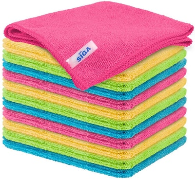 MR. SIGA Microfiber Cleaning Cloths (12-Pack)