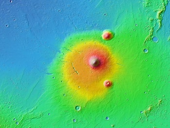 elyssium volcano on mars nasa