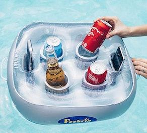 FEEBRIA Inflatable Floating Drink Holder