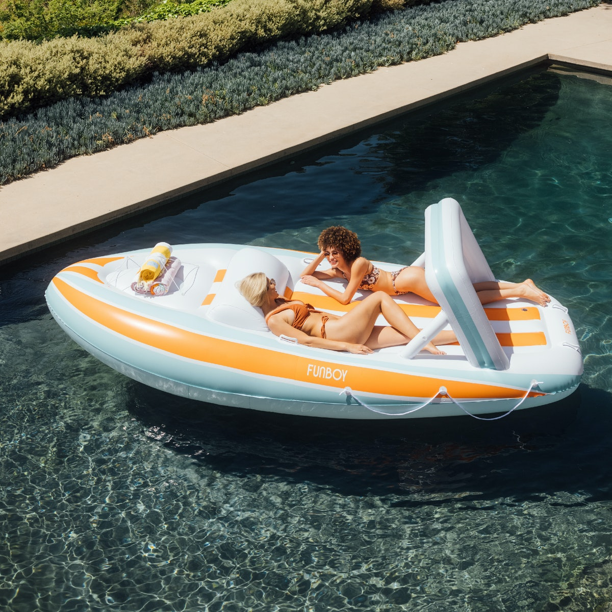 FUNBOY's Mega Yacht pool float is a major upgrade.