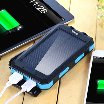 ERRBBIC Solar Power Bank Portable Charger