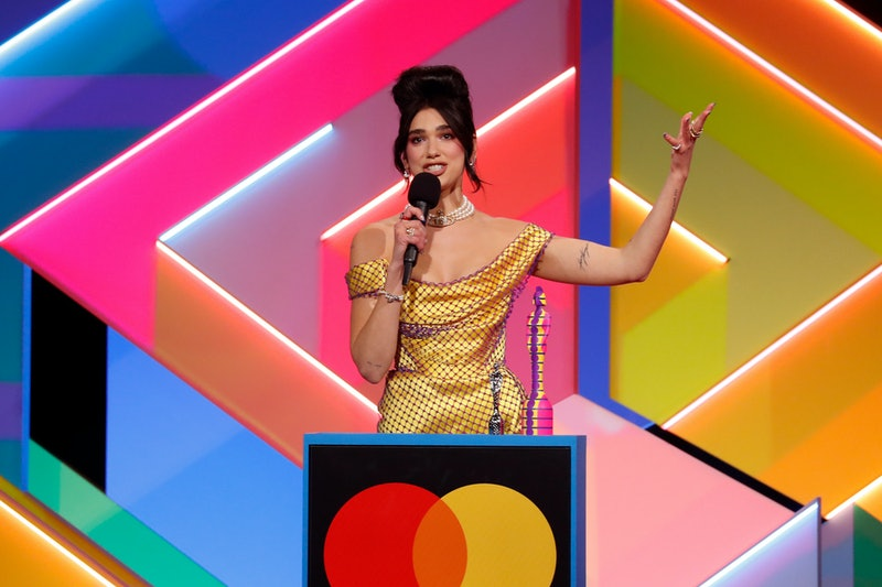 Dua Lipa receives the award for Best Female Solo Artist during The BRIT Awards 2021