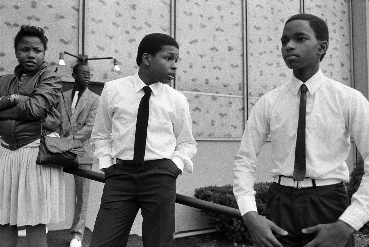 Dawoud Bey's Four Teenagers After Church Service
