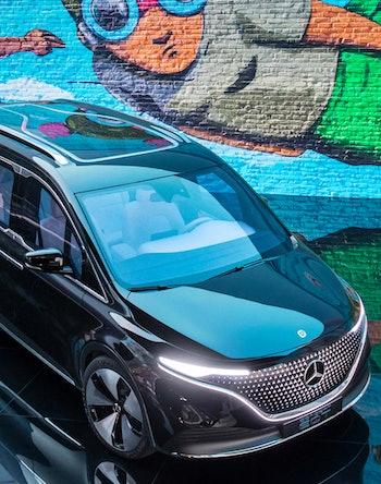 Mercedes-Benz EQT all-electric concept. Electric vehicles. EV. EVs.