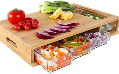 HOMECHO Cutting Board With Containers