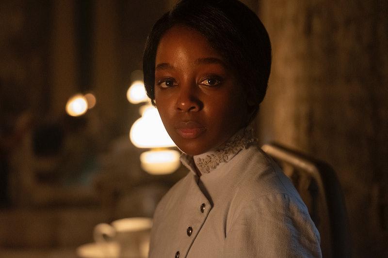 Thuso Mbedu as Cora in 'Underground Railroad' via the Amazon press site.