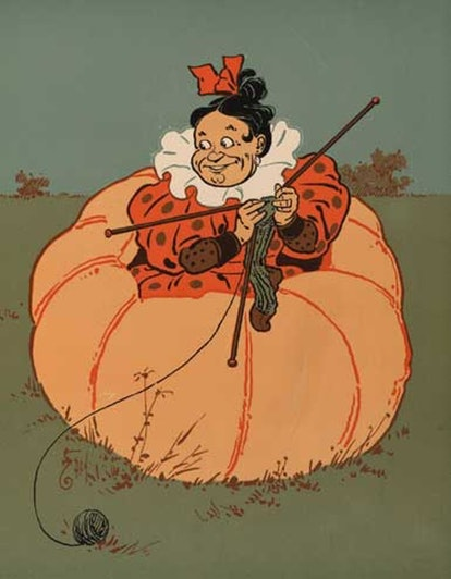 The wife of Peter, Peter pumpkin eater from the bizarre nursery rhyme.
